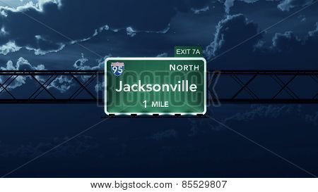 Jacksonville USA Interstate Highway Road Sign