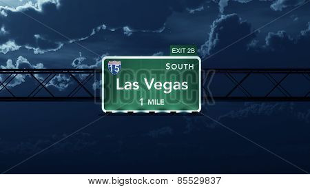 Las Vegas USA Interstate Highway Road Sign