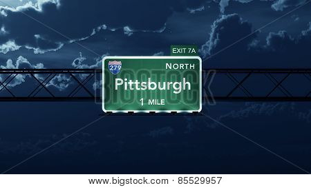 Pittsburgh USA Interstate Highway Road Sign