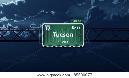Tucson USA Interstate Highway Road Sign
