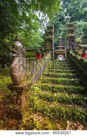 Bali Temple At Ubud, Indonesia