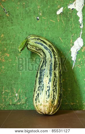 Green Courgette Zucchini On Table