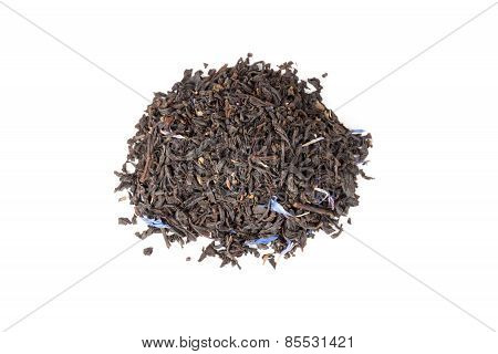 Black Earl Grey Tea Isolated On White, Top View
