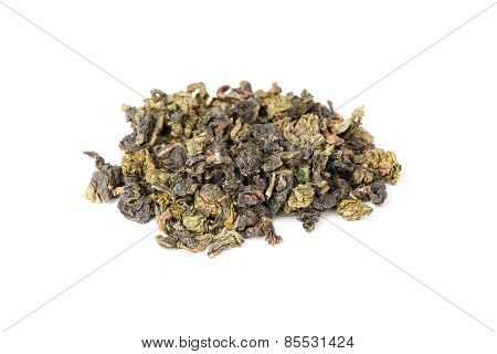 Chinese Green Oolong Tea Isolated On White