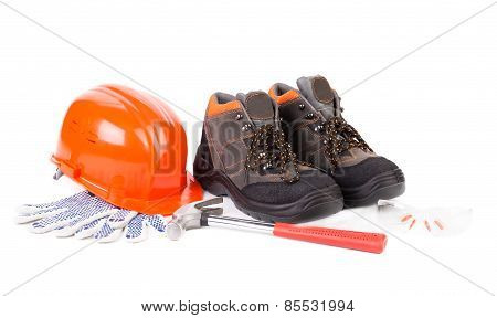 Working tools and boots.