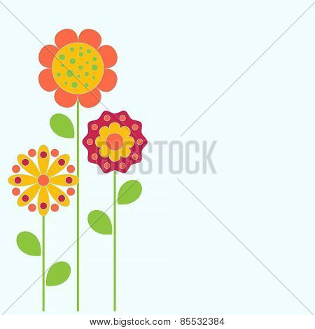 Flower Vectors, Flower Card
