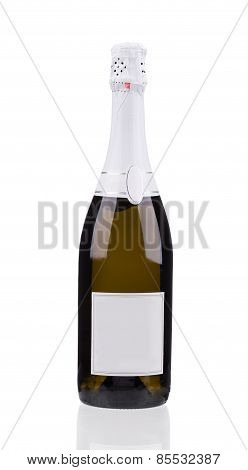 Close up of champagne bottle.