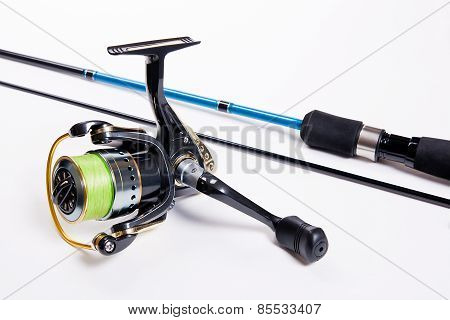 Fishing Rod Isolated On White.