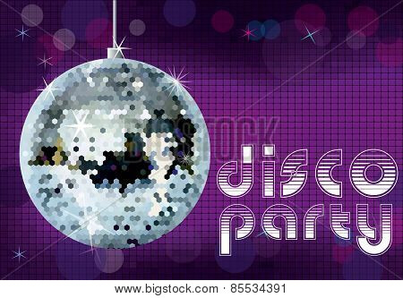 Disco party background.