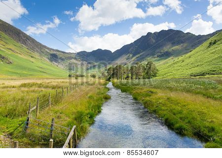 Beautiful English Lake District and Haystacks mountain from Buttermere United Kingdom