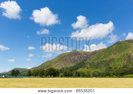 Lake District Buttermere mountain view to High Shockrigg Cumbria England UK