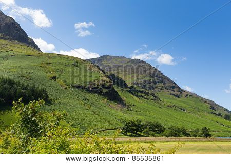 High Style mountain near Buttermere Lake District Cumbria England uk on a beautiful sunny summer day