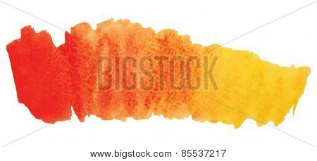 Watercolor Stain Isolated On A White Background