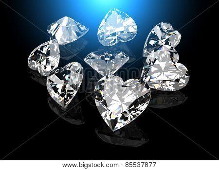 set of Diamond. Jewelry background