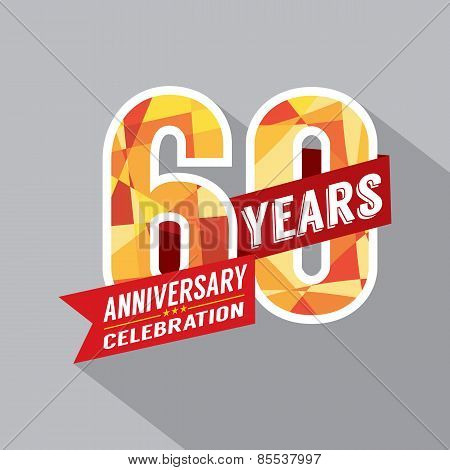 60Th Year Anniversary Celebration Design.