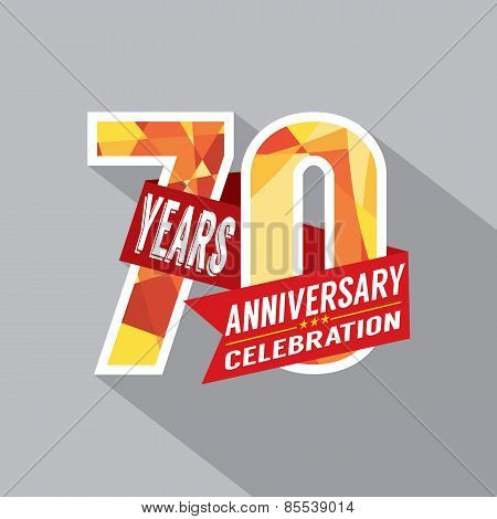 70Th Years Anniversary Celebration Design.