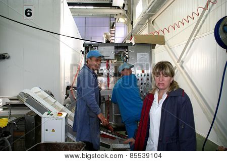 Factory For The Production Of Food Products From Natural Ingredients. Food Convenience Food. Product