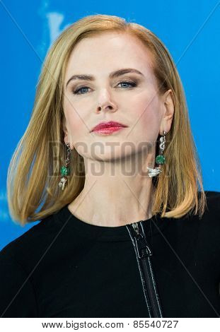 BERLIN, GERMANY - FEBRUARY 06: Actress Nicole Kidman, photocall 'Queen of the Desert'. 65th Film Festival at Hyatt Hotel on February 6, 2015 in Berlin, Germany.