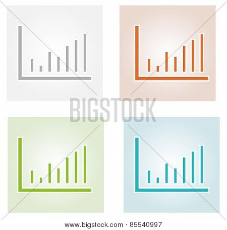 Four Color Bar Charts