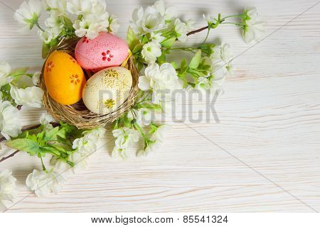 easter egg in nest