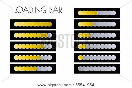 Gold Loading Bars