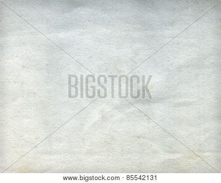 Old Wrinkled Dirty Grey Paper Sheet