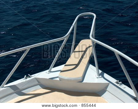 Front deck of a boat
