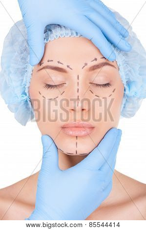 Preparation For Facial Surgery.