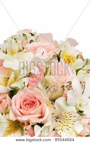 Bouquet of beautiful flowers as a background