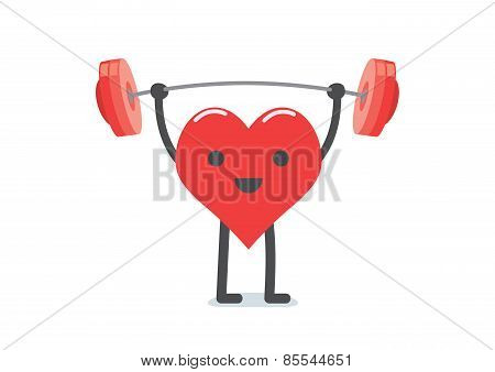 Strong heart weight lifting