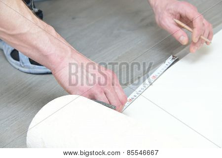 Architect With A Tape Measure Does