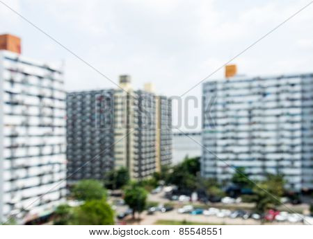 Modern Condominium In Blur Focus