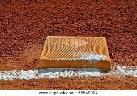 Chalk on frist or third base