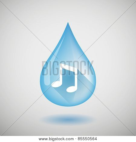 Water Drop With A Music Note
