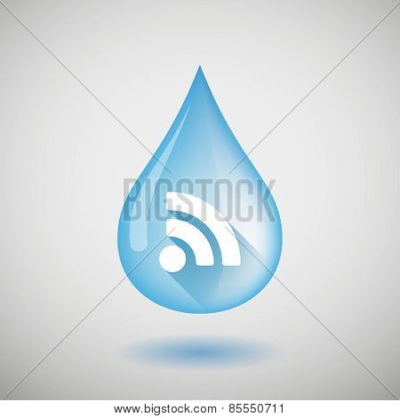 Water Drop With A Rss Sign