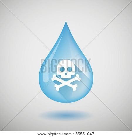 Water Drop With A Skull