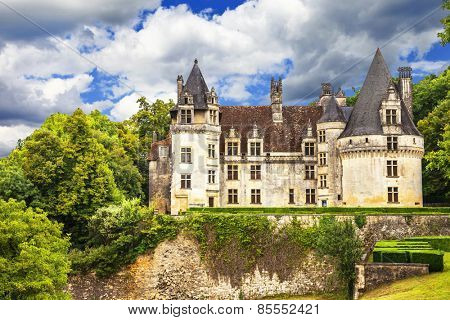 beautiful castles of France - Puyguilhem, Dordogne provence