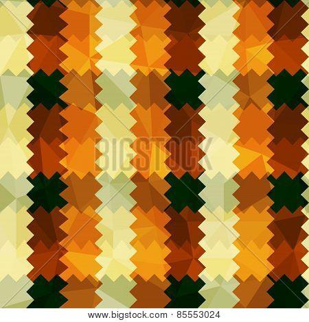 Zigzag Lines Orange Seamless Pattern