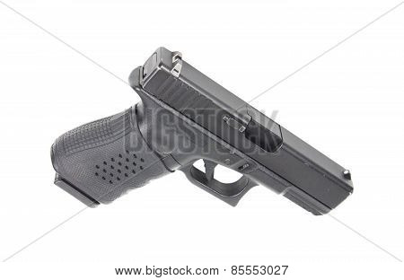 Handgun on white background