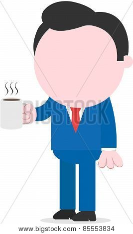 Businessman Holding Coffee Mug