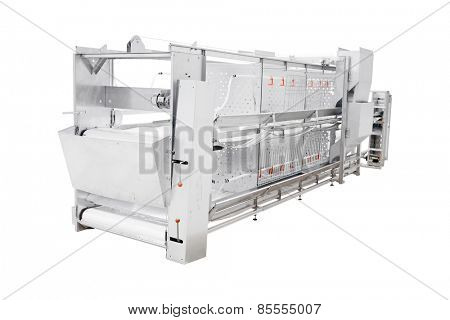 Poultry equipment  isolated under the white background