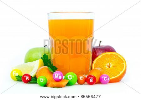 Fresh and healthy multivitamin juice