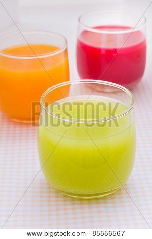 Colorful Fruit Juice