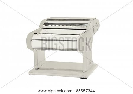 dough flattening roller under  the white background