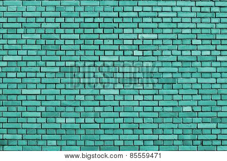 Turquoise Brick Wall Background