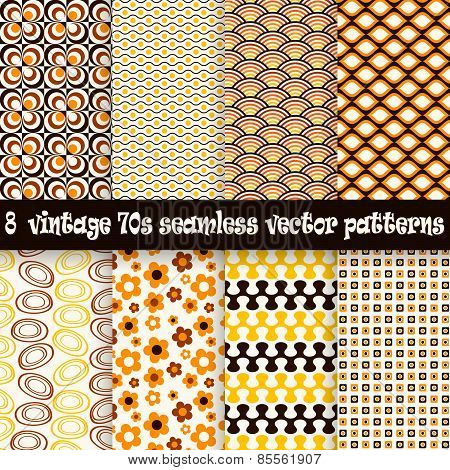 Collection Seamless Vintage 70S Backgrounds