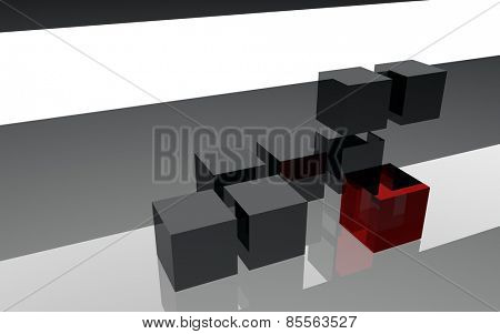 3d cubes structure abstract background