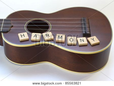 Antique Ukulele Harmony Letter tiles