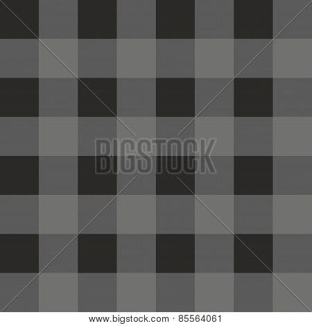 Tile dark grey plaid vector pattern