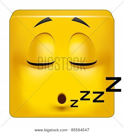 Square Emoticon Sleeping